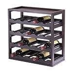 Kingston Kitchen Bar 20 Wine Bottle Wooden Storage Tray Rack Dark Espresso Finish