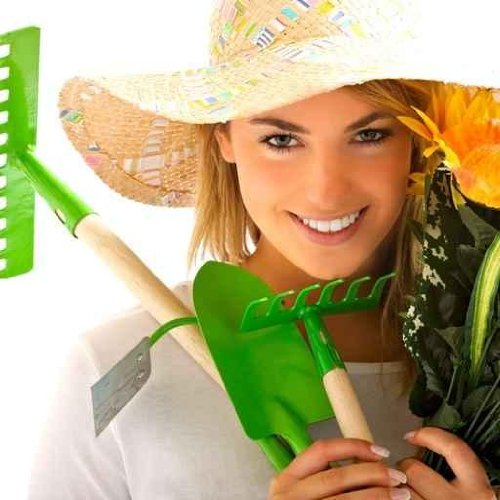 Girl Portrait with Gardening Tools - 18