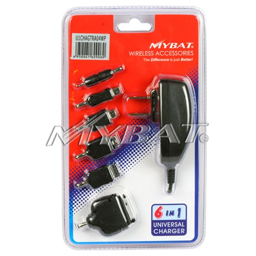 Mybat 6-In-1 Universal Travel Home Charger With Ic Chips 6 Adaptors