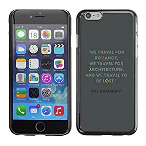 Omega Covers - Snap on Hard Back Case Cover Shell FOR Iphone 6/6S (4.7 INCH) - Travel Architecture Quote Bradbury Ray