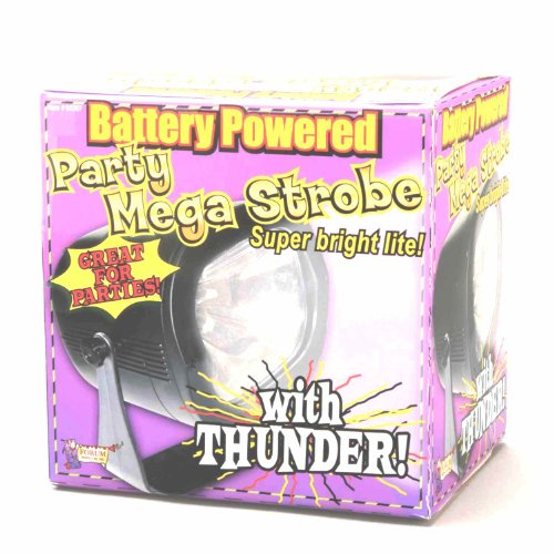 Forum Novelties Mega Strobe Super Bright Battery Powered Party Light with Thunder Sound Effects - 1