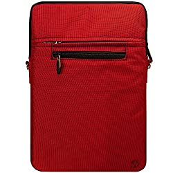 VanGoddy Hydei Crossbody Messenger Bag with Removable Shoulder Strap for 13-14in Laptops/Notebooks, Apple MacBook Pro 13in MacBook Air 13in Dell Vostro Lenovo HP ASUS 13.3in Laptop (Red)