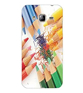 SAMSUNG GALAXY J3 2016 PENCILS Back Cover by PRINTSWAG