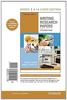 writing research papers lester 14th edition pdf download: Best