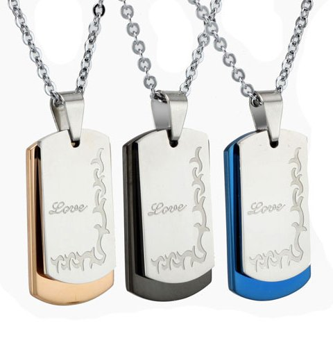 Opk Jewellery Fashion Stainless Steel Necklace Hotsale Men's Engraved
