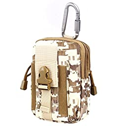 Compact Multi-Purpose Tactical MOLLE EDC Utility Gadget Pouch Tools Waist Bag Pack (Desert Digital)