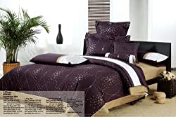 PCS392-9-CK Royal Purple California King Size Duvet 9 Piece Set