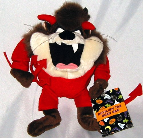"Devilish Taz Bean Bag Plush 9"" - 1"