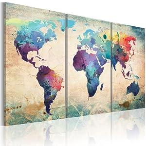 Grand format impression sur toile images 3 parties - Tableau cuisine maison du monde ...