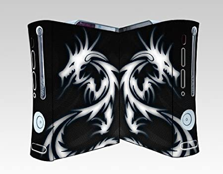 Bundle Monster Vinyl Skins Accessory For Xbox 360 Game Console - Cover Faceplate Protector Sticker Art Decal - Blue Dragon