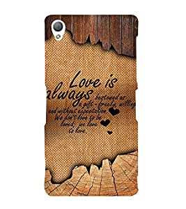 Beautiful Love Quote 3D Hard Polycarbonate Designer Back Case Cover for Sony Xperia Z3 :: Sony Xperia Z3 D6653 D6603