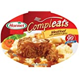 Hormel Compleats Meatloaf with Potatoes & Gravy, 10-Ounce Microwavable Bowls (Pack of 6) ~ Hormel