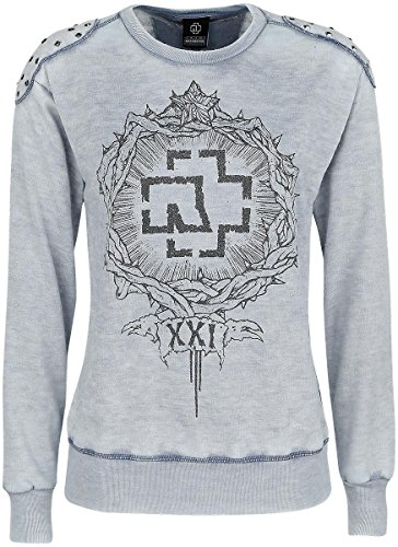 Rammstein XXI Pullover donna grigio sport L