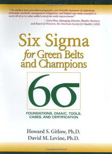 Six Sigma for Green Belts and Champions: Foundations,...