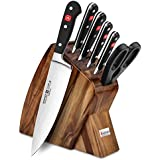 Wusthof Classic 7-piece Slim Knife Block Set (Acacia)