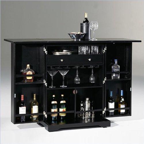 Home Styles Steamer Trunk Bar Wine Rack