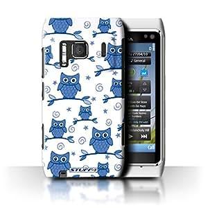 Amazon.com: STUFF4 Phone Case / Cover for Nokia N8 / Blue/White Design ...