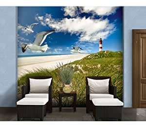 Wtd photo wall mural lighthouse in dunes 300x280cm for Amazon mural wallpaper
