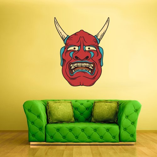 Fit You Full Color Wall Decal Mural Sticker Art Decor Asian Japan Japanese Chineese China Horror Ethnic Face Mask (Col213)