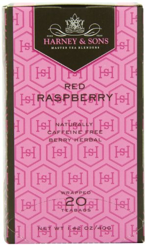 Harney and Sons Premium Tea Bags, Red Raspberry, 20 Count