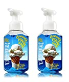 Bath & Body Works Boardwalk Vanilla Cone Gentle Foaming Hand Soap - Pack of 2 Ice Cream Scented Soaps