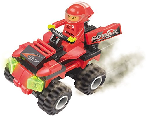 Racing-Speed-and-Steering-63-pcs-full-action-off-road-4X4-bike-supported-by-rotating-fins-for-agility-on-toughest-terrain-driven-by-armoured-rider-a-must-for-6-children-in-Lego-compatible-parts