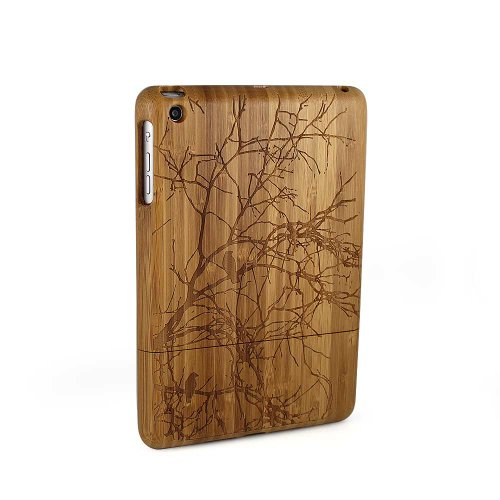 Lerway Branches Natural Bamboo Wood Wooden Hard Shall Cover Case for iPad Mini