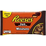 Reese's Dark Chocolate Peanut Butter Cup Miniatures, 12-Ounce Bags (Pack of 4)