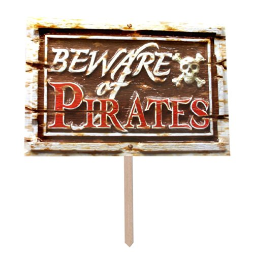 Beware Of Pirates 3-D Art-Form Yard Sign Party Accessory (1 Count)