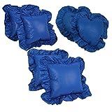 Blazing Needles Assorted Throw Pillows, Royal Blue, Set of 6