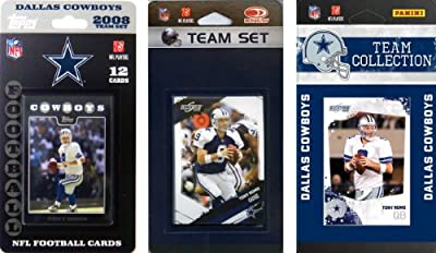 NFL Dallas Cowboys 3 Different Licensed Trading Card Team Sets