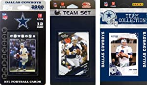NFL Dallas Cowboys 3 Different Licensed Trading Card Team Sets by C&I Collectables