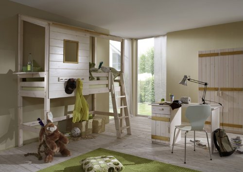 spar set kinder hochbett 120 cm massivholz erle noah. Black Bedroom Furniture Sets. Home Design Ideas
