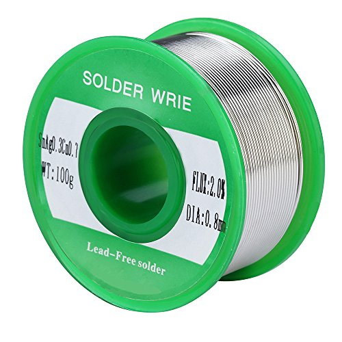 Buy Bargain 0.8mm Rosin Core Solder Wire Lead Free Sn99 Ag0.3 Cu0.7 0.22lb for Electronical Solderin...