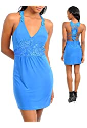 G2 Fashion Square Women's Sexy Back Mini Evening Dress
