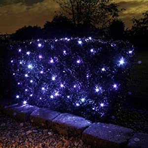 100 Bulb Blue Net Solar Powered Garden Lights 1m X 1.5m