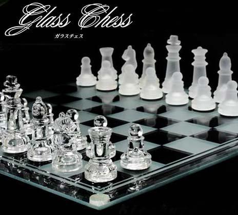 クリスタルガラスチェス 小HB-075