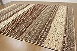 ギャベ柄デザイン ラグ カーペット じゅうたん 約3畳(200×250cm) ロータス/1628 ブラウン