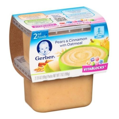 Gerber 2nd Foods Nature Select Pears and Cinnamon with Oatmeal Baby Food, 7 Ounce -- 8 per case. (Gerber Baby Food Case compare prices)