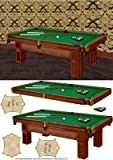 pool table card front with decoupage by Michelle Johnson