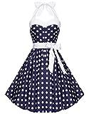 Zarlena Rockabilly 50er Polka Dots Kleid in mehreren Farben und Gr��en 34 36 38 40 42 44 46 48