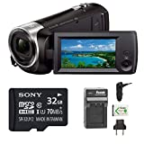 Sony HDRCX440 Handycam HD Camcorder w/32GB Micro SD Card & Battery/Charger