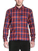 Salewa Camisa Hombre Therma Pl M L/S Srt (Rojo / Azul)