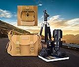 ESDDI SLR/DSLR Digital Camera Bag Case Waterproof Canvas Protective Case for Sony/Canon/Nikon, iPad and Accessories