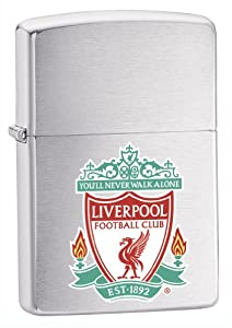 Zippo Liverpool Fc Lighter - Brushed Chrome by Zippo