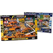 Dimple Child Dc15404 Police Action 40 Piece Set & Dc15398 Transport Truck 40 Piece Set Bundle Of 2