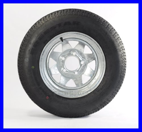 Cheap New Two Trailer Tires + Rims ST185/80D13 185/80D-13 13 ST Galvanized Spoke