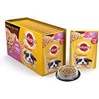 Pedigree Puppy Chicken chunks Flavour in Gravy, 80 g (Pack of 15)
