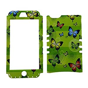Cell Armor Faceplate for iPhone 5C - Purple Flowers with Vines/Black