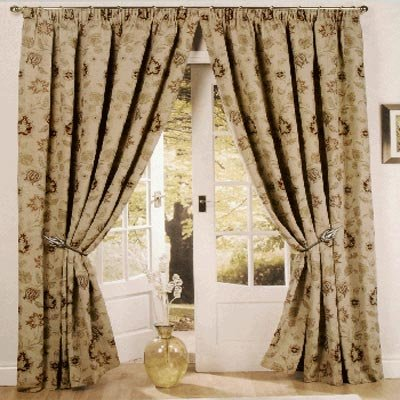 Zurich Pencil Pleat Curtains, Champagne, 90 x 90 Inch